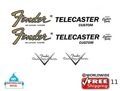 Fender Telecaster Guitar Decal Headstock Inlay Decal Restoration Logo 11