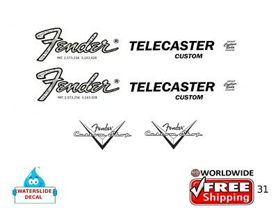 Fender Telecaster Guitar Decal Headstock Inlay Decal Restoration Logo 31