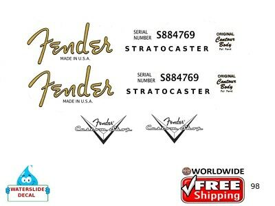 Fender Stratocaster Corona Guitar Decal Headstock Inlay Restoration Logo 98