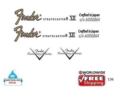 Fender Stratocaster Japan Guitar Decal Headstock Inlay Restoration Logo 136