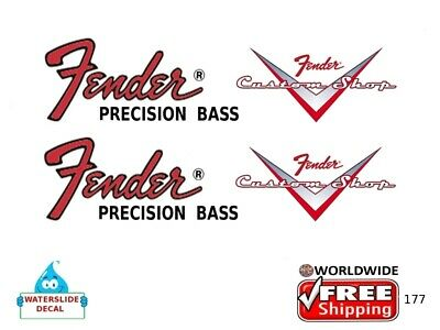 Fender Precision Bass Guitar Decal Headstock Inlay Restoration Logo 177