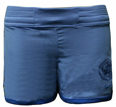 Nike Active Girls Kids Sports Training Shorts Just Do It Blue 404186 412 A12E