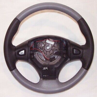 Genuine Mgf Steering Wheel Granite + Ash Grey Leather Qtb101020Lbb   No Airbag