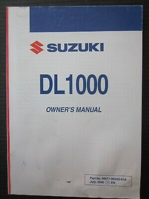 SUZUKI DL 1000 K7 Owner's manual original manuale uso manutenzione inglese