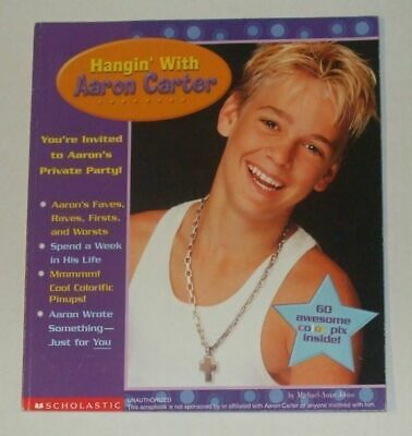Hangin' With AARON CARTER softcover book 2001 60+ coloured photos