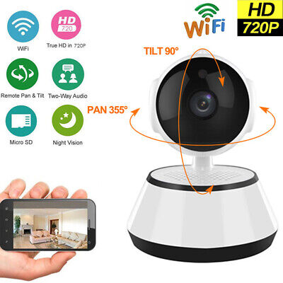 HD 720P Wireless WIFI IP Camera Outdoor Night Vision Home Security Two-way Audio