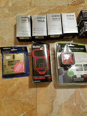 Lot of 10 Brand New Camera Accessories Night Vision Floppy Adapter Underwater
