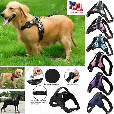 New Pet Dog Vest Harness Leash Collar No Pull Adjustable Small Medium Large XL