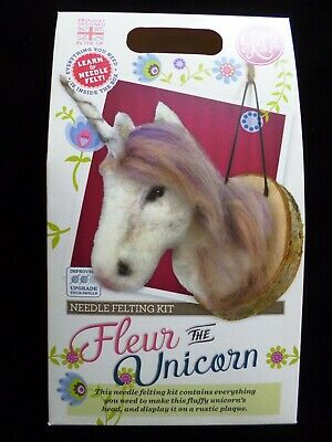 FLEUR THE UNICORN NEEDLE FELTING KIT The Crafty Kit Company SALE SHOP CLEARANCE