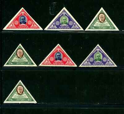 Lithuania Scott # C71a - C73a, C71 - C73 - MH - Nice Stamps