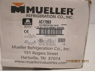 """Mueller AC17869 Cyclemaster Ball Valve 2-5/8"""" Ball Valve Assembly New In Box-FSP"""