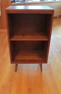 Vintage Mid Century Martinsville ? Wood Nightstand Bookcase Shelf Table Cabinet