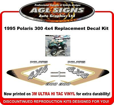 1995 Polaris Sportsman 300 4x4  Reproduction Decal Kit   graphics