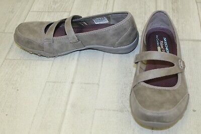 Breathe Memory Calmly Easy Womens Foam Trainers Leather Skechers iTuOPlkXwZ
