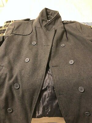 ff62609c709 Alpine Swiss Jake Men s Gray Pea Coat Wool Blend Double Breasted Dress Pea  coat