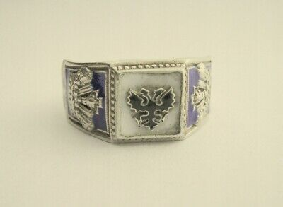 Antique Russian Empire Sterling Silver Ring 88 Mark Very Unique