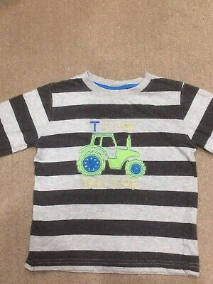 Next Baby Boys 18-24 Months 1.5-2 Years T Is For Tractor Long Sleeve Top T-shirt