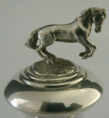 Quality English Sterling Silver Horse Bottle Stopper 1995 Hunting Riding Barware