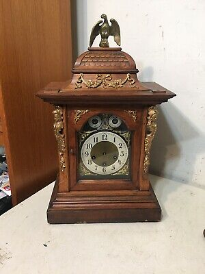 Rare Very Ornate Junghans Westminster Chime Bracket Clock Project