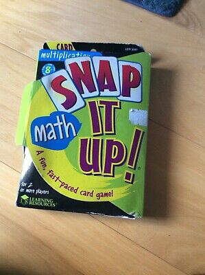 Maths Card Game Learning Resources Snap It Up Multiplication