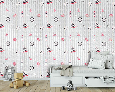 Sailboat Wallpaper for Children's Bedroom ~ Kid's Room Boat Wall ...