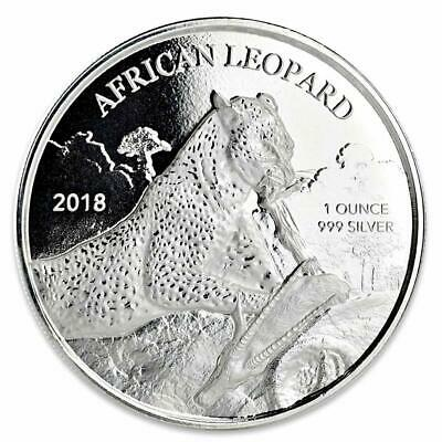 2018 1 oz African Leopard .999 Silver Coin 5 Cedis BU Proof-like #A428