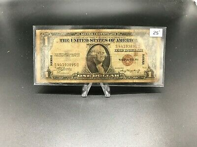 Hawaii $ 1.00 1935-A World War II Relic Really Used During The Second World War