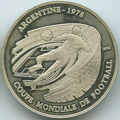 GS1205 - Tschad 1000 Francs 2002 KM#22 Silber FIFA World Cup Argentina 1978 Chad