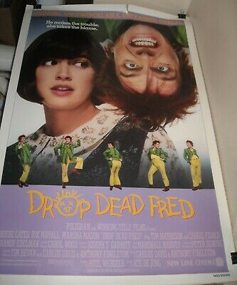 Rolled 1991 Drop Dead Fred 1 Sheet Movie Poster Phoebe Cates Rik Rayall Photos