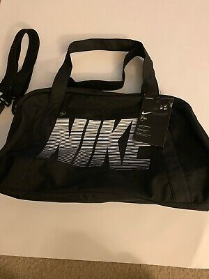 9106deb6ff77 Nike Women Gym Club Training Duffel Bag Black White Gym Sport Workout BA5490 -010