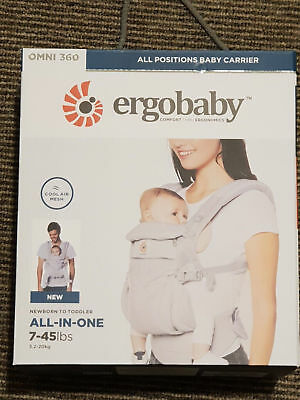 NEW ERGOBABY 360 OMNI COOL AIR MESH ERGO BABY Carrier. Pearl grey color