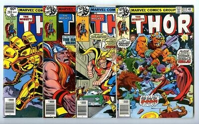 Thor #277,280,281,283 Avg F/VF New Marvel Bronze Copper Collection