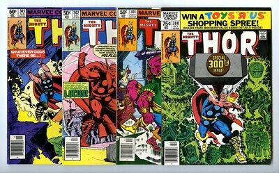 Thor #300,301,302,303 Avg F/VF New Marvel Bronze Copper Collection