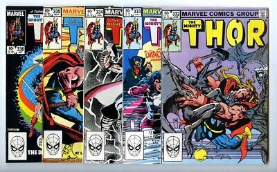 Thor #332,333,334,335,336 Avg VF/NM New Marvel Bronze Copper Collection