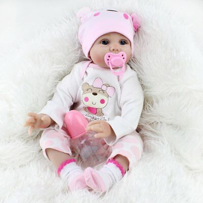 22'' Lifelike Reborn Baby Dolls Vinyl Silicone Newborn Toddler Girl Doll  Gifts