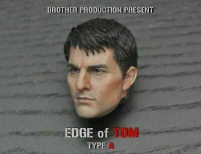 """Edge of Tomorrow 1/6th Tom Cruise Male Head Sculpt Model For 12"""" Action Figure"""