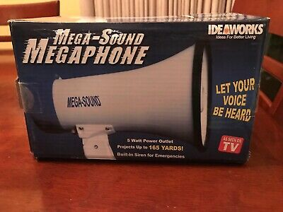 As Seen On TV Mega-Sound Professional Megaphone with Built-in Siren