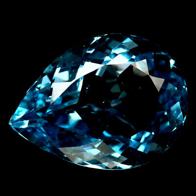 23.21 Ct Aaa! Natural! Sky Blue Brazilian Topaz Pear