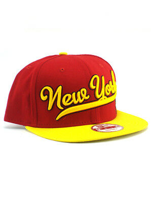 reputable site 018d0 204a1 New Era Iron Man 9fifty Snapback Hat New York Adjustable Marvel Heroes Red  NWT