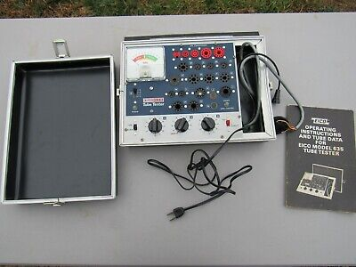 Vintage EICO Model 635 Radio Tube Tester With Operating Manual, Still Works