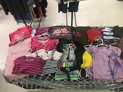 20 piece lot of nice girl's clothes shirts tops dresses size 7-8