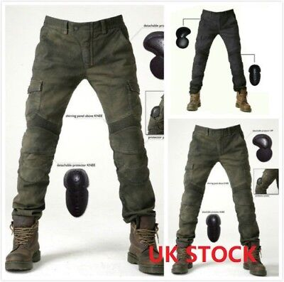 New Cool Men Fitted Motorcycle Jeans Motorbike Pants Denim Trousers Off Road Pad