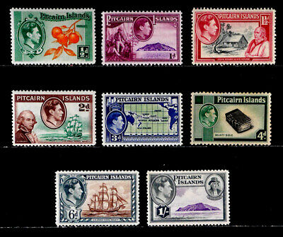 Pitcairn Islands, British: 1940-51 Stamp Collection Mint Never Hinged Cv $39.40