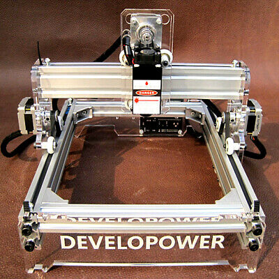 AU 2000MW A5 DIY Laser Engraving Engraver Cutter Logo Marking Printer 17X20CM