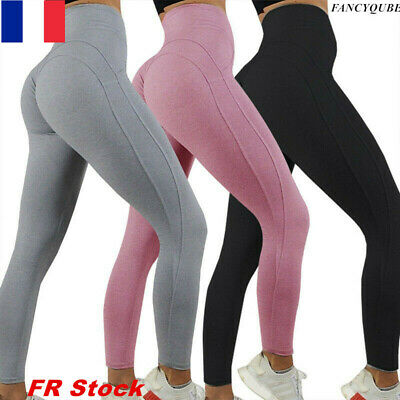 Femmes de yoga haute Faire monter leggings Fonctionnement Un Scrunch Pantalon