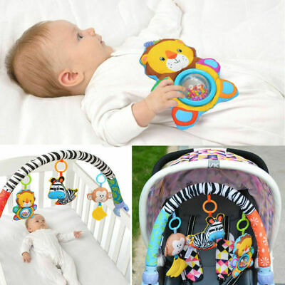 Travel Play Arch Stroller/Crib Pram Activity Rattle/Squeak/Teethers Baby Toy