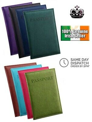 New Soft Fashion Travel Passport Case ID Card Cover Holder Protector Organizer