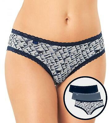 * 3 Pack Sloggi Weekend Hipster Briefs 10194073 Low Rise 95/% Cotton Knickers
