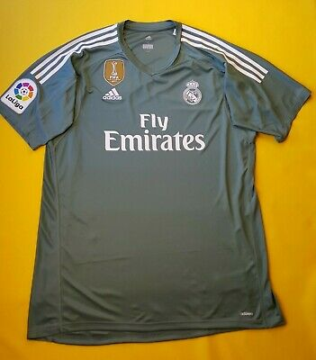 5b5de7c42 5+ 5 Real Madrid jersey XL 2018 goalkeeper shirt B31100 soccer Adidas ig93