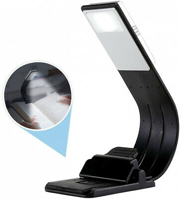 LED Book Light Portable Clip Book Reading Light Adjustable 4-Level Brightness